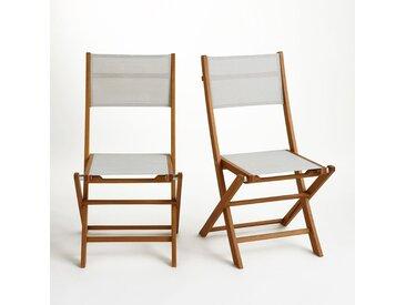 Chaise de jardin pliante (lot de 2), Exodor LA REDOUTE INTERIEURS Beige Chiné