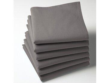 Serviettes de table unies coton, Scenario LA REDOUTE INTERIEURS Gris