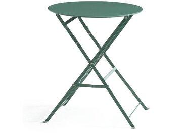 Guéridon, table pliante en métal OZEVAN LA REDOUTE INTERIEURS Vert Eucalyptus