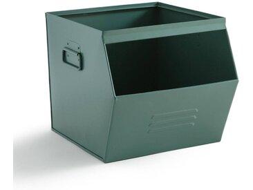 Casier empilable en métal, HIBA LA REDOUTE INTERIEURS Vert De Gris
