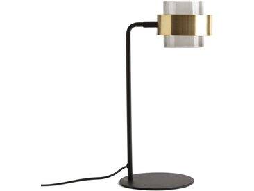 Lampe à poser verre et métal, Botello LA REDOUTE INTERIEURS Noir/Laiton