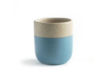 Cache-pot céramique bicolore, Kera LA REDOUTE INTERIEURS Bleu