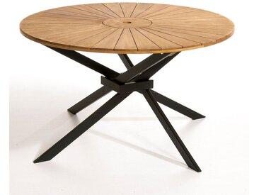 Table de jardin ronde, Jakta AM.PM Naturel/Noir