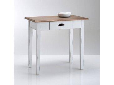 Table de cuisine pin massif 1 à 2 couverts, Roside LA REDOUTE INTERIEURS Blanc Clair