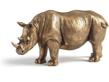 Statuette rhinocéros, Kami AM.PM Laiton Vieilli