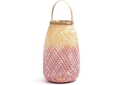 Lanterne bambou rose/naturel, CORDO LA REDOUTE INTERIEURS Rose Naturel
