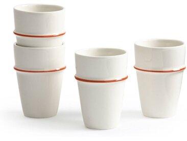 Lot de 4 tasses façon beldi, Belos LA REDOUTE INTERIEURS Blanc/Terracotta