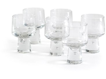 Lot de 6 Verres à vin trapèze, Albédo AM.PM Transparent