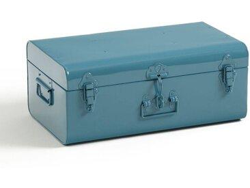 Cantine malle en métal, Masa LA REDOUTE INTERIEURS Bleu Orage