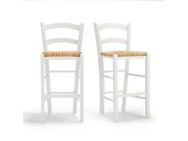 Lot de 2 chaises de bar mi-hauteur Perrine LA REDOUTE INTERIEURS Blanc