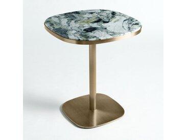 Table de bistrot marbre Ø60 cm, Lixfeld AM.PM Laiton Vieilli