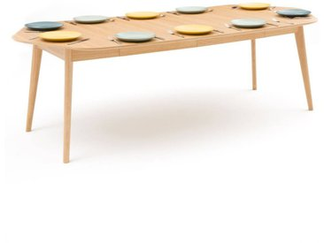 Table à manger à allonges 4 à 10 couverts, Biface LA REDOUTE INTERIEURS Chêne