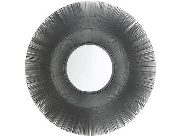 Miroir soleil métal ø80 cm Langa AM.PM Gun Métal