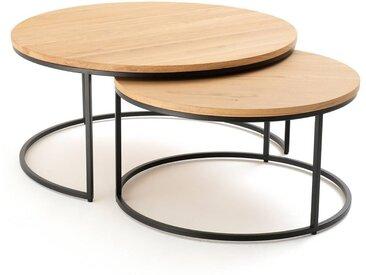 Lot de 2 grandes tables basses gigognes chêne Vova LA REDOUTE INTERIEURS Chêne