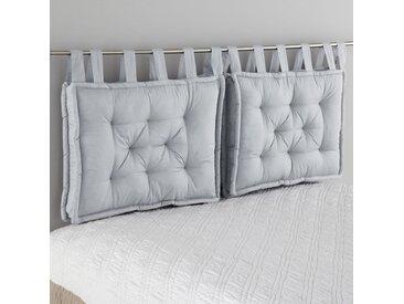 Tête de lit matelassée pur coton, Scenario LA REDOUTE INTERIEURS Gris Perle