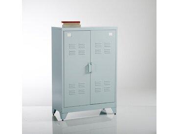 Armoire basse 2 portes en métal, Hiba LA REDOUTE INTERIEURS Bleu