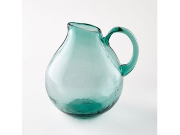 Carafe en verre soufflé, Galindo AM.PM Turquoise