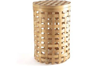 Panière ronde en bambou tressé, Jakemo AM.PM Naturel