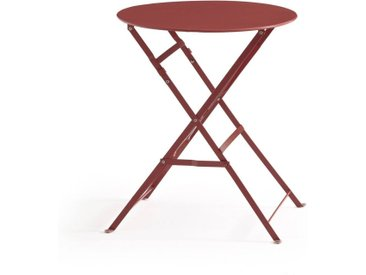 Guéridon, table pliante en métal OZEVAN LA REDOUTE INTERIEURS Terracotta