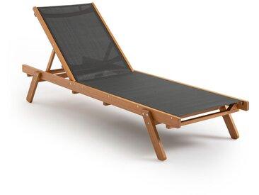 Bain de soleil textile et Eucalyptus FSC, Aurette LA REDOUTE INTERIEURS Gris/Bois