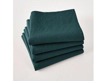 Serviettes de table lin lavé Victorine (lot de 4) LA REDOUTE INTERIEURS Vert Foncé