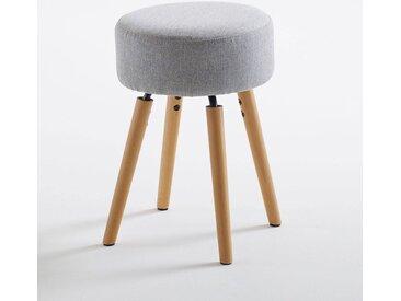 Tabouret design, rembourré, Asting LA REDOUTE INTERIEURS Gris