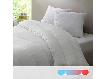 Double couette 4 saisons 175 g/m² et 300g/m² LA REDOUTE INTERIEURS Blanc