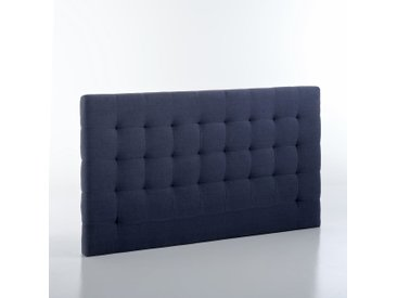 Tête de lit capitonnée lin lavé 100 cm, Selve AM.PM Bleu Postal