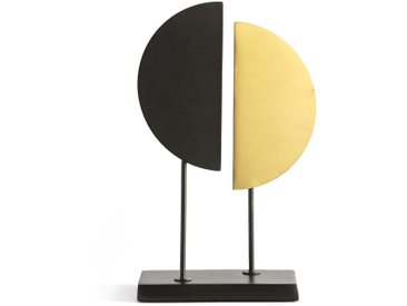 Sculpture métal et laiton MARAMI LA REDOUTE INTERIEURS Noir/Laiton