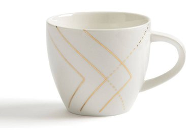 Lot 4 tasses Solaine LA REDOUTE INTERIEURS Blanc - Doré