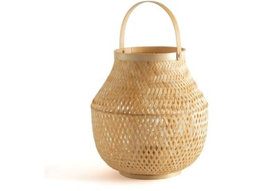 Photophore forme lanterne en bambou, Rixy LA REDOUTE INTERIEURS Naturel