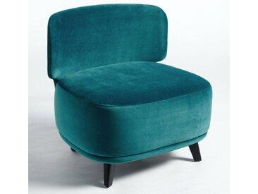 Chauffeuse 1,5 place Odalie, design E. Gallina AM.PM Bleu Paon