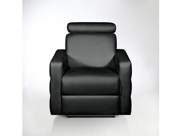 Fauteuil de relaxation cuir, Hyriel LA REDOUTE INTERIEURS Noir