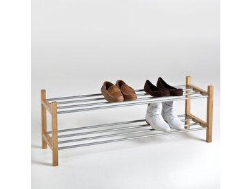 Range-chaussures Bamboo, 2 étagères LA REDOUTE INTERIEURS Bois Clair Naturel