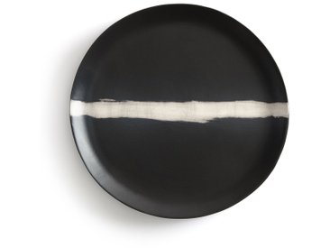 Plat faïence, Etsumi By V. Barkowski AM.PM Noir/Blanc