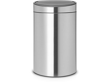 Poubelle de cuisine Touch Bin 100172, 40 litresBRABANTIAInox
