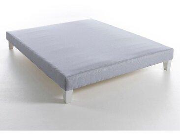 Sommier tapissier lattes H26 cm, Soma AM.PM Rayé Bleu