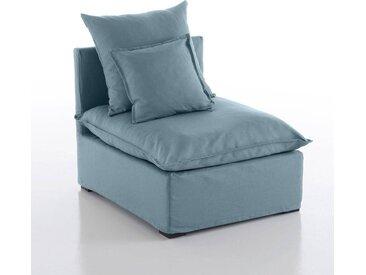 Chauffeuse déhoussable bachette pur coton, Nélia LA REDOUTE INTERIEURS Bleu Clair