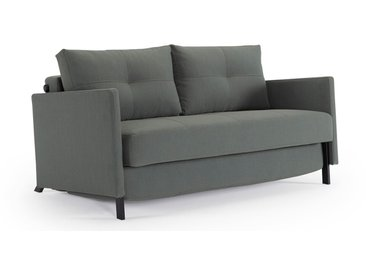 Canapé convertible avec accoudoirs Cub - Largeur 140 cm - Gris chiné - Innovation living