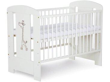 Lit bébé Girafe 120x60 - Blanc