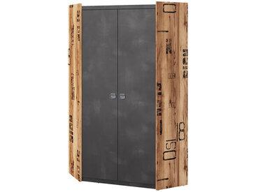 Armoire d'angle FARGO pour chambre industrielle Graphite petitechambre.fr