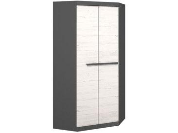 Armoire d'angle largeur 93cm TREND bois blanc et graphite Graphite MDF petitechambre.fr