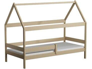 Lit cabane en bois Domek - Vanille - 80 cm x 160 cm