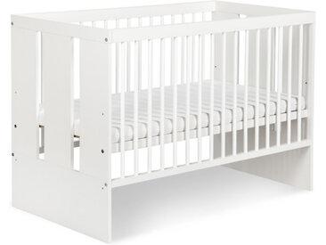 Lit bébé à barreaux pas cher Paula Blanc 60 cm x 120 cm Bois massif petitechambre.fr
