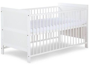 Lit bébé évolutif 140x70cm blanc et pin