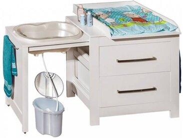 Commode de bain avec plan à langer Blanc Panneaux Stratifiés petitechambre.fr