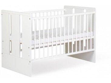 Lit bébé blanc 120cm Paule
