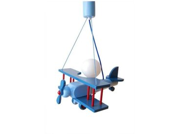 Luminaire Petit Avion Bleu / Rouge
