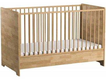 Lit bébé 70x140 en bois massif Bétula - Bouleau