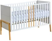 Lit bébé 140x70 YETI blanc et bois 70 cm x 140 cm Blanc Panneaux Stratifiés petitechambre.fr
